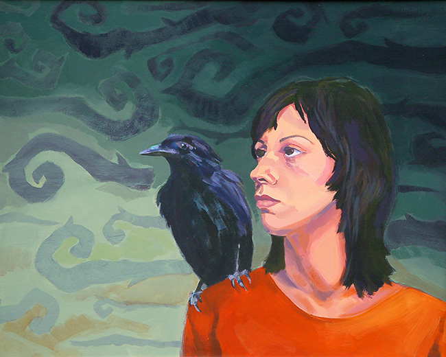 Self Portrait With The Crow